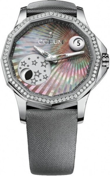 Corum Admirals Cup Legend 38 Mystery Moon Damklocka 384.101.47-F149 AN01 - Corum