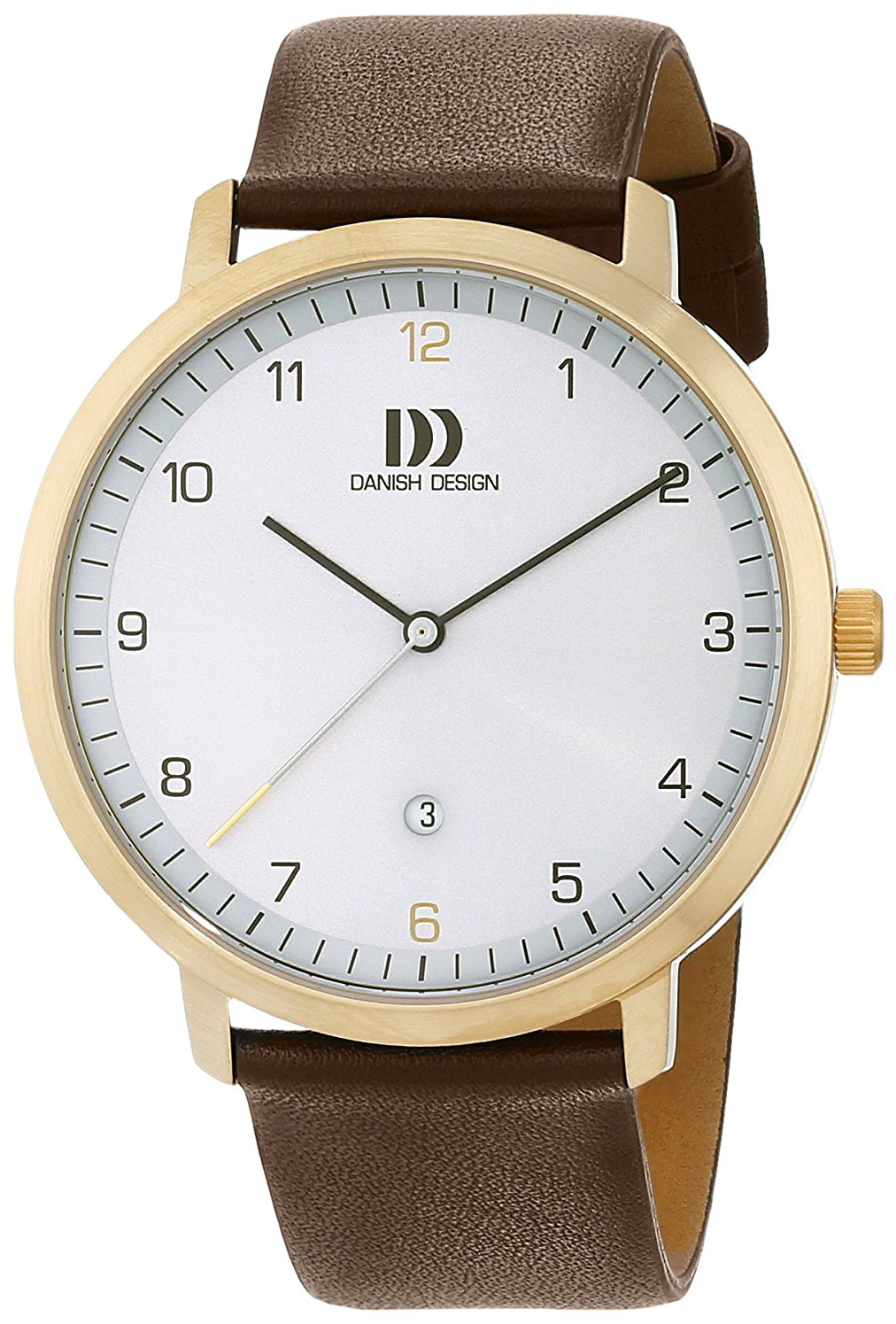 Danish Design Classic Herrklocka 3310092 Vit/Läder Ø42 mm - Danish Design