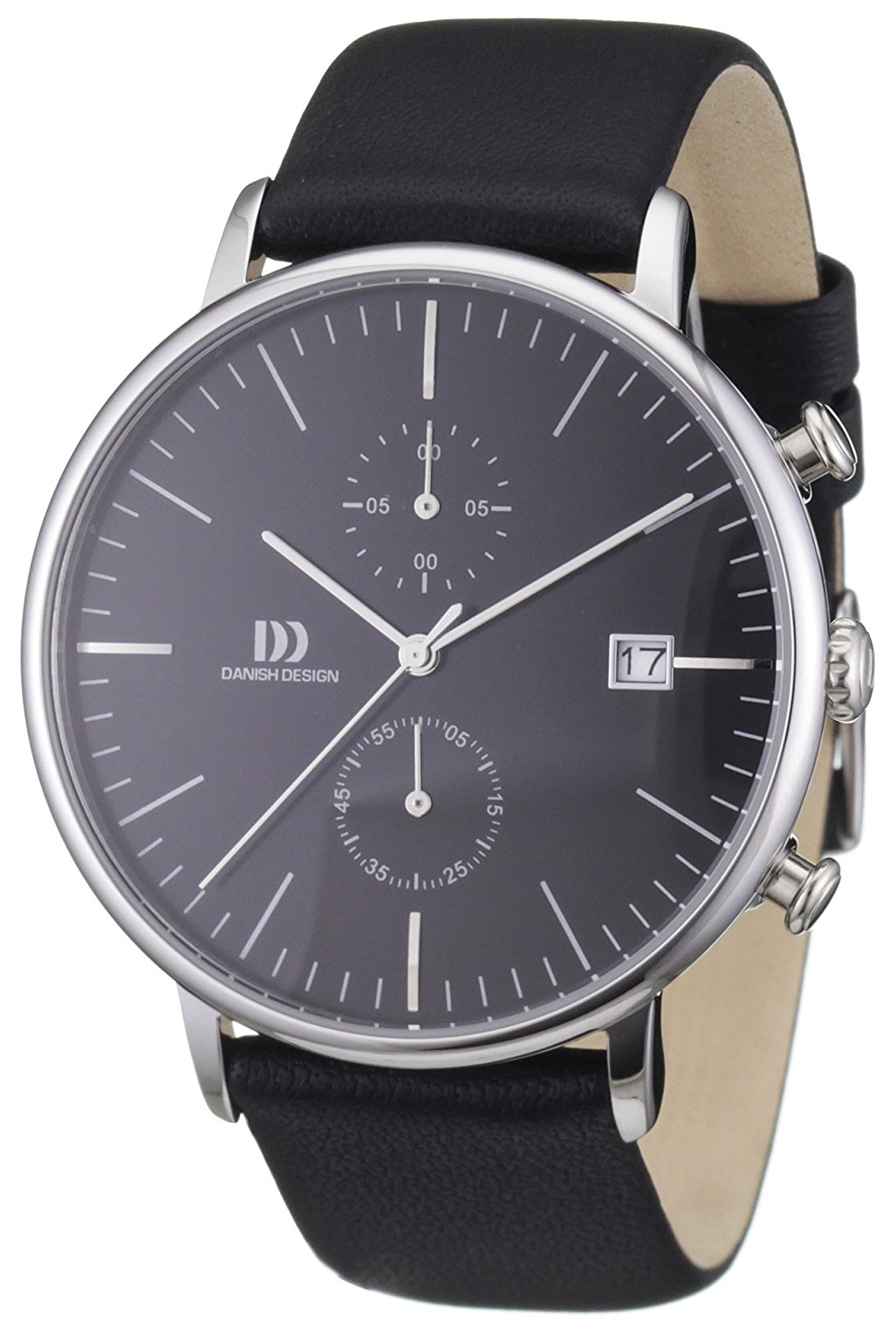 Danish Design Sport Herrklocka 3314401 Svart/Läder Ø42 mm - Danish Design