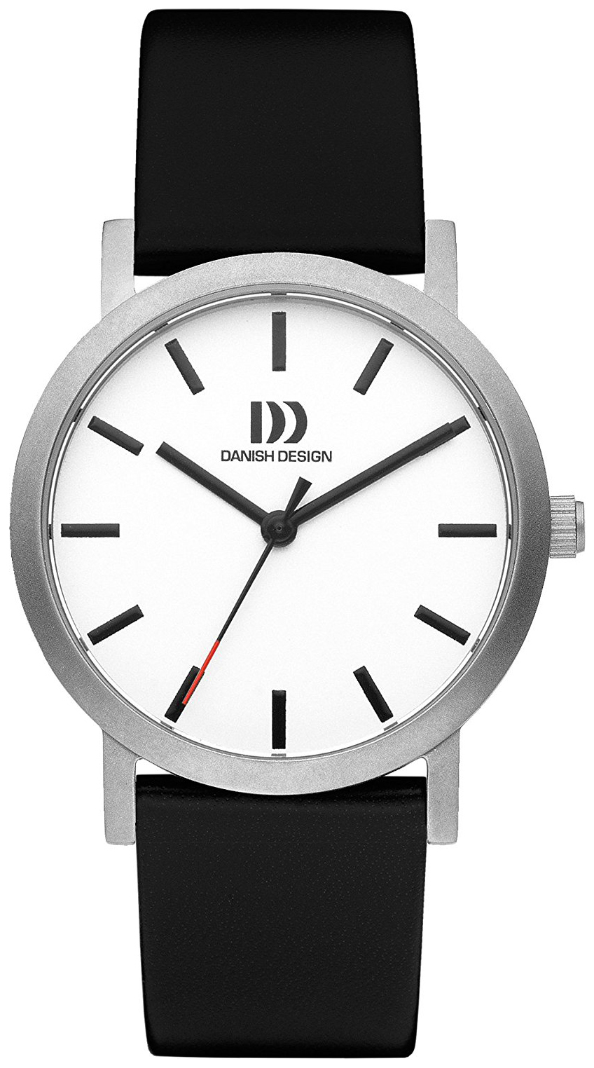 Danish Design Dress Damklocka IV12Q1108 Silverfärgad/Läder Ø33 mm - Danish Design
