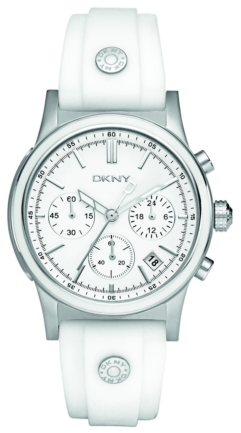 DKNY Chronograph Damklocka NY8170 Vit/Gummi Ø38 mm - DKNY