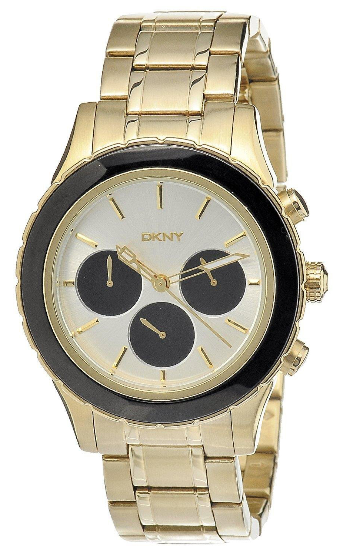 DKNY Chronograph Herrklocka NY8656 Silverfärgad/Gulguldtonat stål Ø45 mm - DKNY