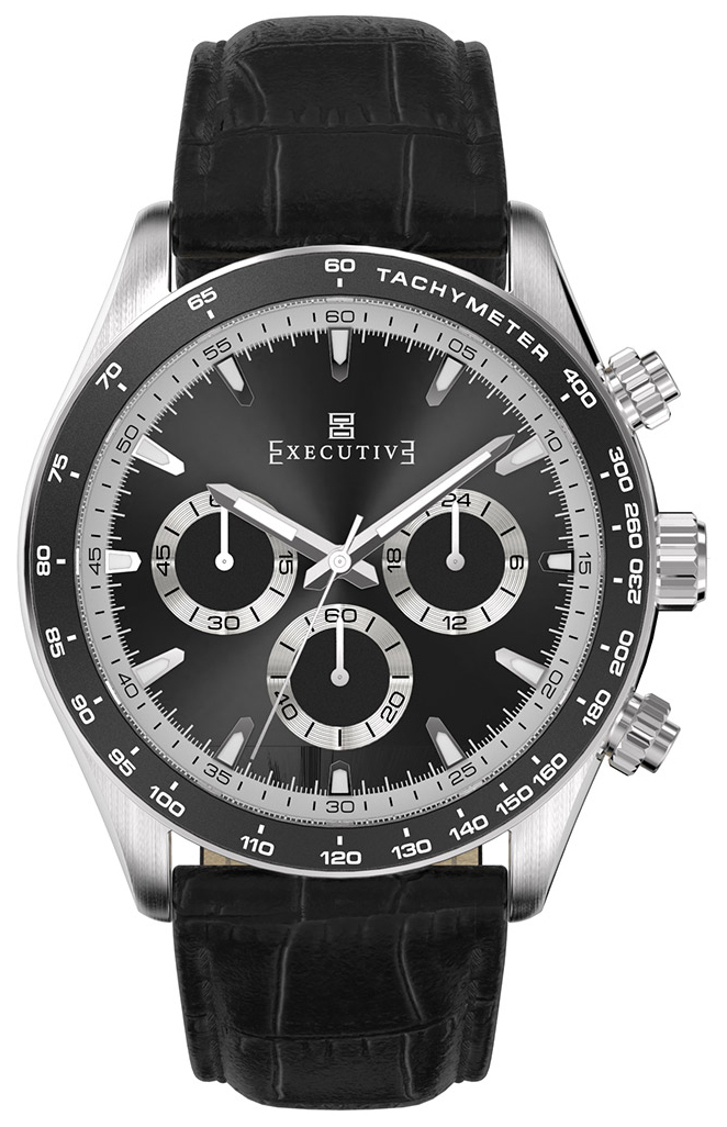 Executive 99999 Herrklocka EX-1018-03 Svart/Läder Ø42 mm - Executive