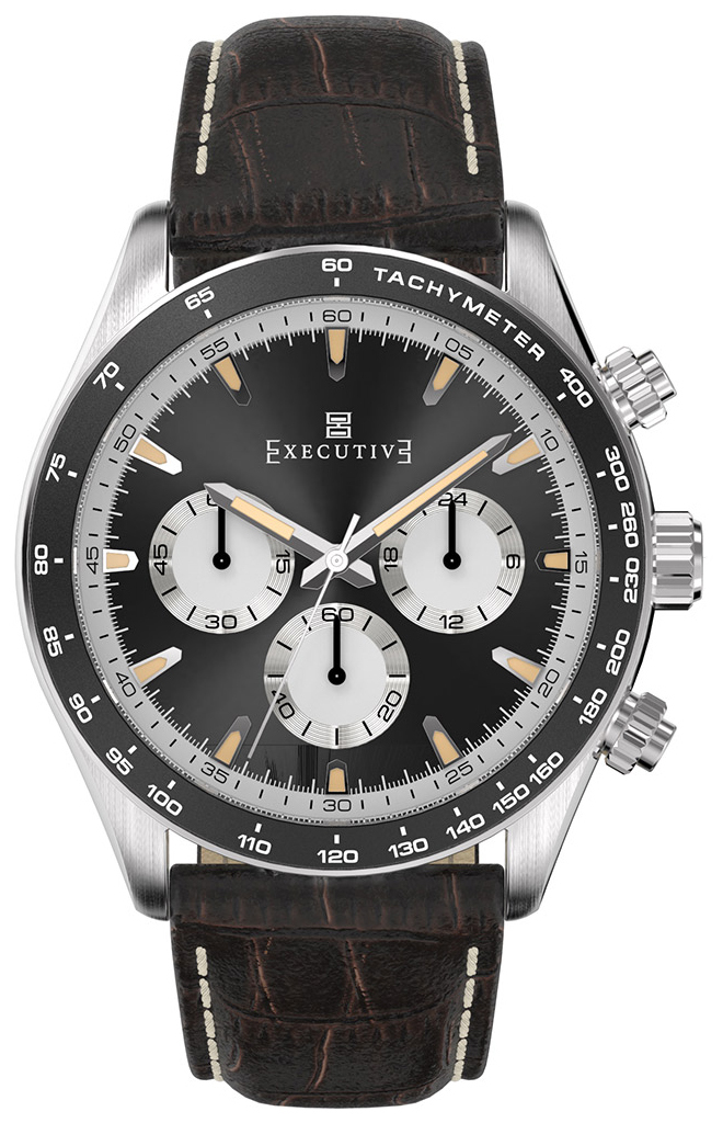 Executive 99999 Herrklocka EX-1018-05 Svart/Läder Ø42 mm - Executive