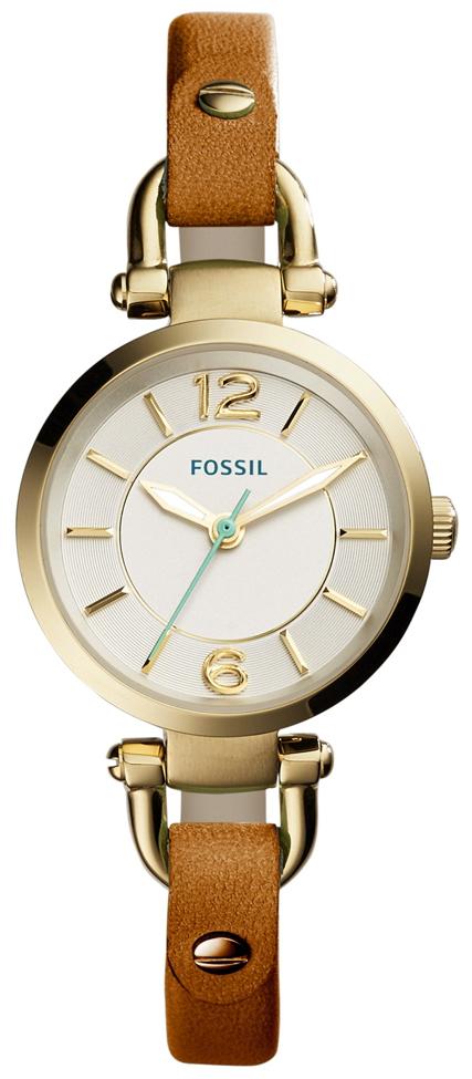 Fossil Casual Damklocka ES4000 Silverfärgad/Läder Ø26 mm - Fossil