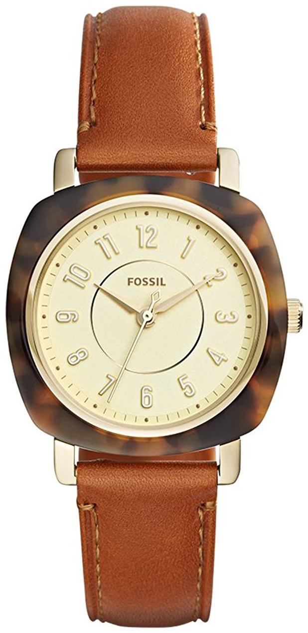 Fossil Idealist Damklocka ES4281 Gulguldstonad/Läder - Fossil