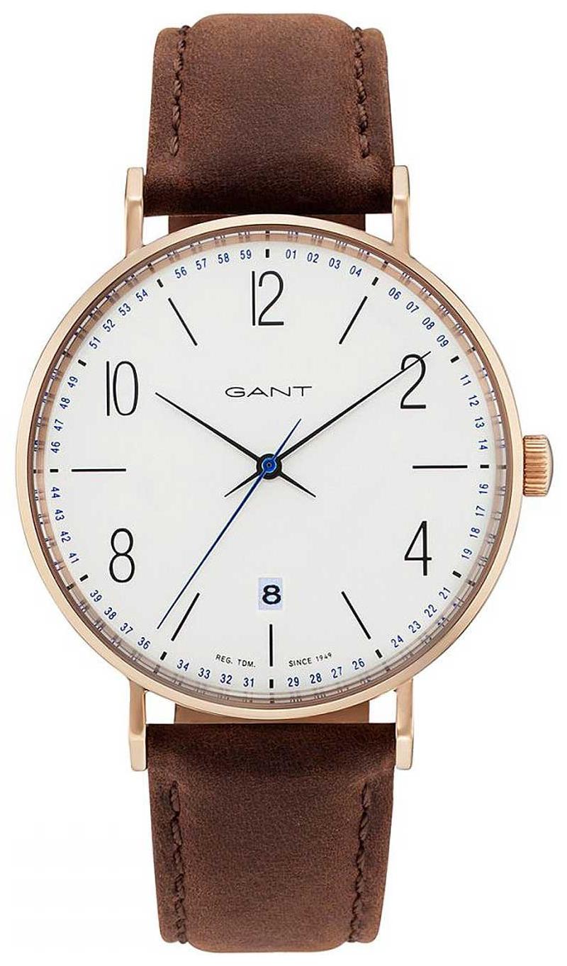 Gant 99999 Herrklocka GT034001 Vit/Läder Ø41 mm - Gant