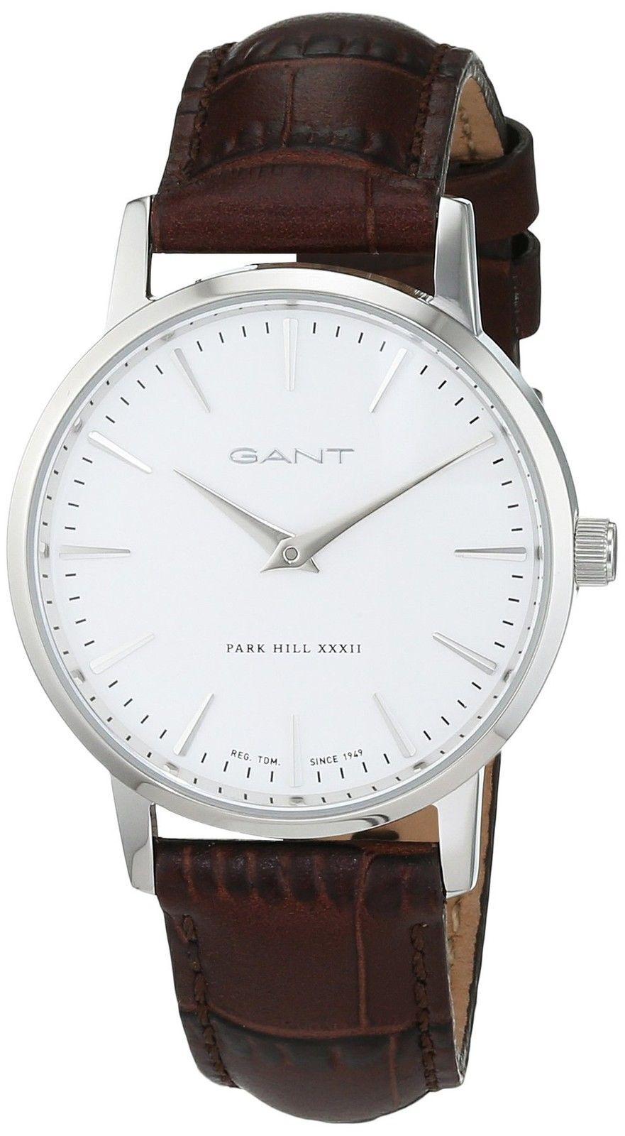 Gant 99999 Damklocka W11401 Vit/Läder Ø32 mm - Gant