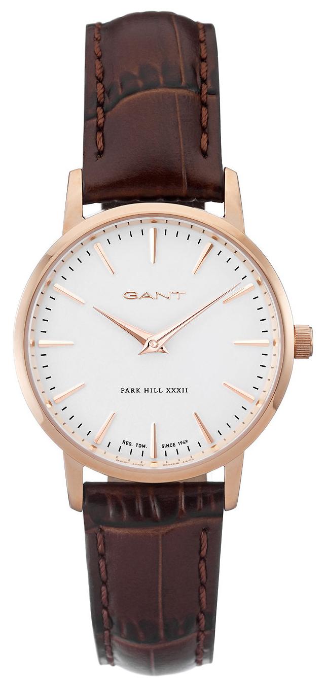Gant 99999 Damklocka W11402 Vit/Läder Ø32 mm - Gant