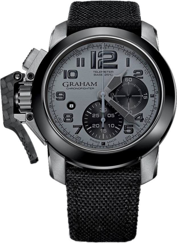 Graham Chronofighter Herrklocka 2CCAC.S01A Grå/Textil Ø47 mm - Graham