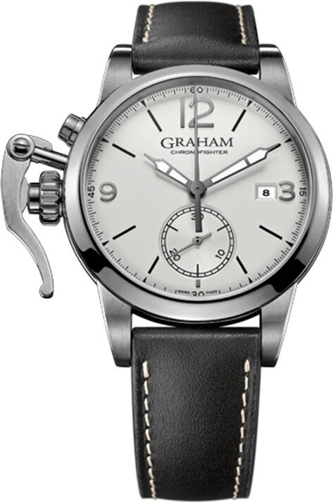 Graham Chronofighter Herrklocka 2CXAS.S02A Silverfärgad/Läder Ø42 mm - Graham
