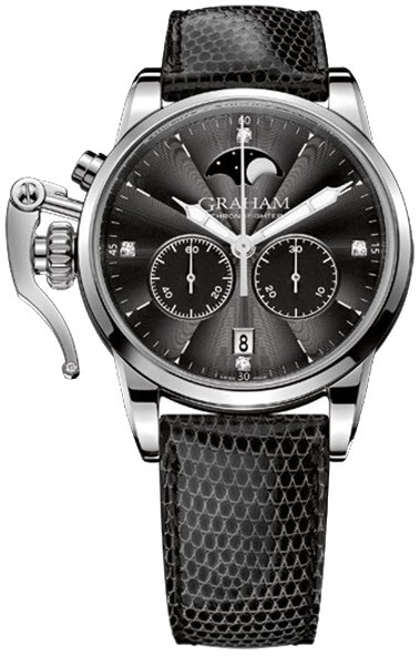 Graham Chronofighter Herrklocka 2CXBS.B04A Svart/Läder Ø36 mm - Graham