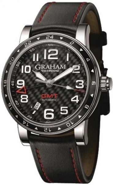 Graham Silverstone Time Zone Herrklocka 2TZAS.B02A Svart/Läder Ø42 mm - Graham