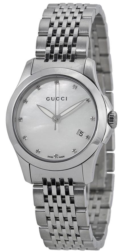 Gucci G-Timeless Damklocka YA126504 Silverfärgad/Stål Ø27 mm - Gucci