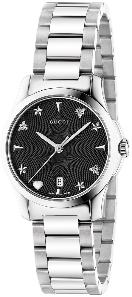 Gucci G-Timeless Damklocka YA126573 Svart/Stål Ø27 mm - Gucci
