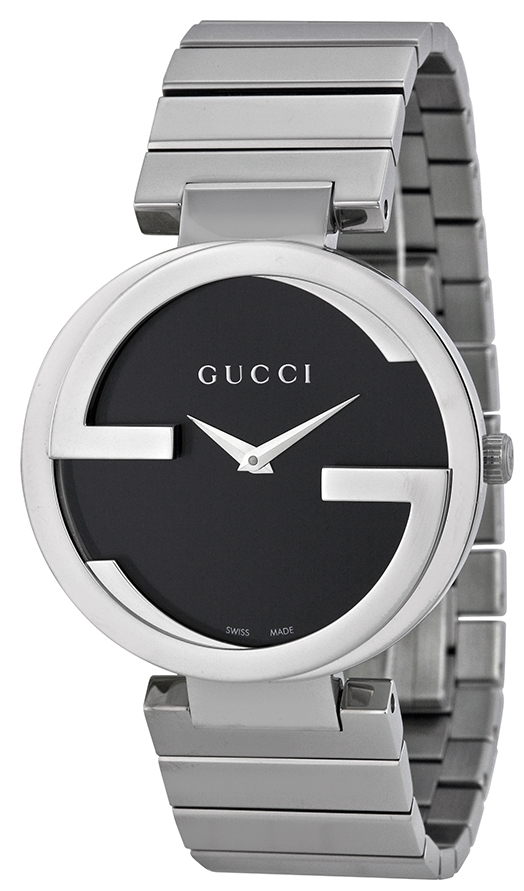 Gucci Interlocking Damklocka YA133307 Svart/Stål Ø37 mm - Gucci