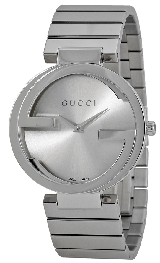 Gucci Interlocking Damklocka YA133308 Silverfärgad/Stål Ø37 mm - Gucci