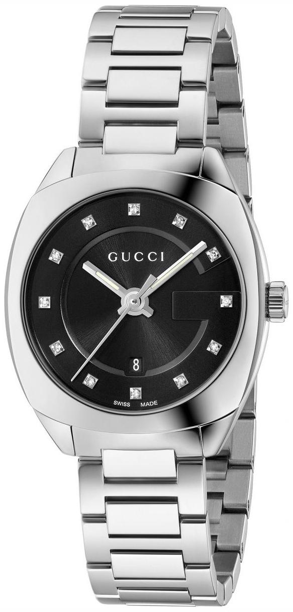 Gucci G- Frame Damklocka YA142503 Svart/Stål Ø29 mm - Gucci