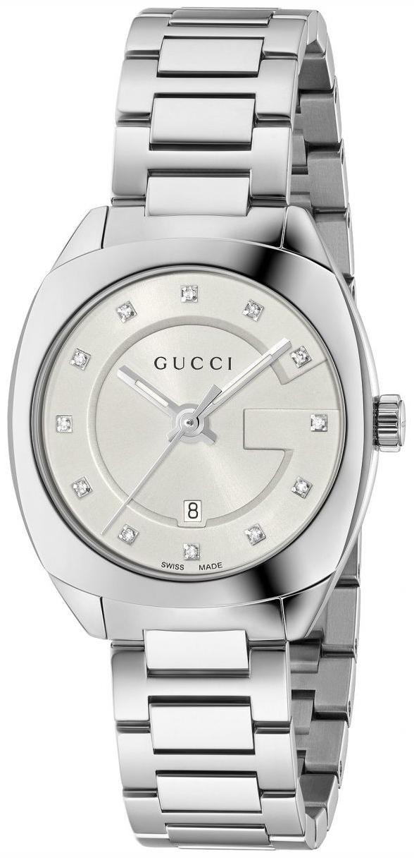Gucci G- Frame Damklocka YA142504 Vit/Stål Ø30 mm - Gucci