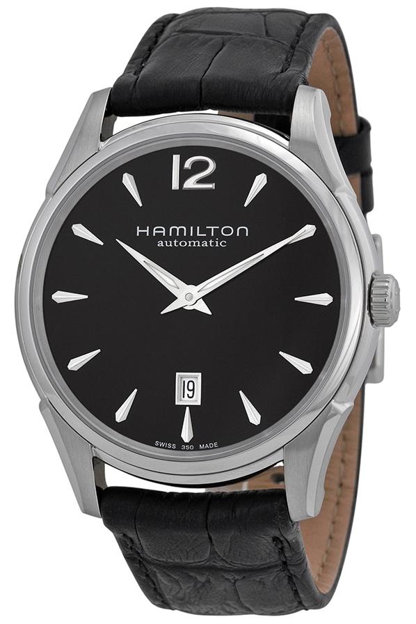 Hamilton American Classic Jazzmaster Herrklocka H38615735 Svart/Läder - Hamilton