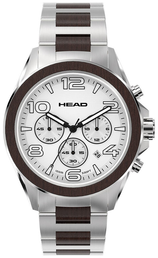 HEAD Heritage Herrklocka HE-001-02 Vit/Stål Ø44 mm - HEAD