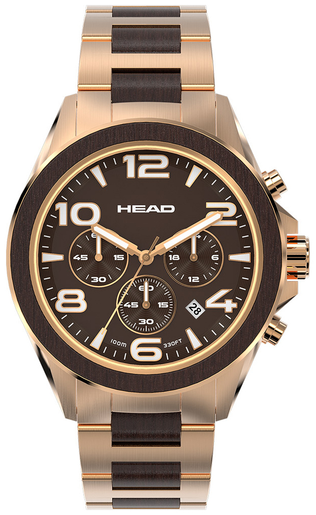HEAD Heritage Herrklocka HE-001-03 Brun/Roséguldstonat stål Ø44 mm - HEAD