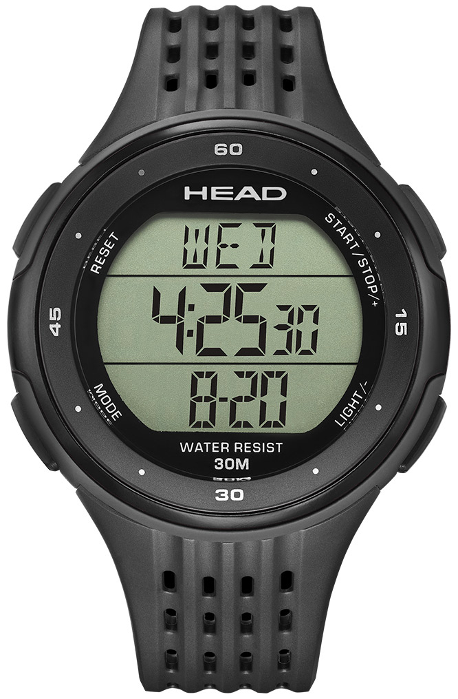 HEAD Downhill Herrklocka HE-102-01 LCD/Gummi Ø47 mm - HEAD