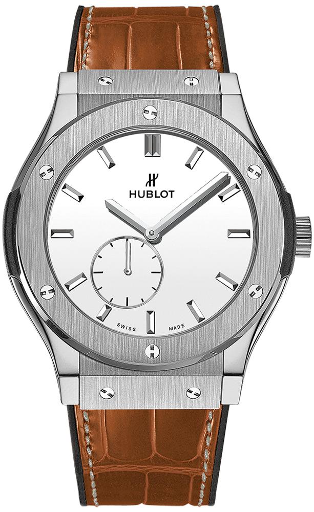Hublot Classic Fusion Herrklocka 515.NX.2210.LR Silverfärgad/Läder Ø45 - Hublot