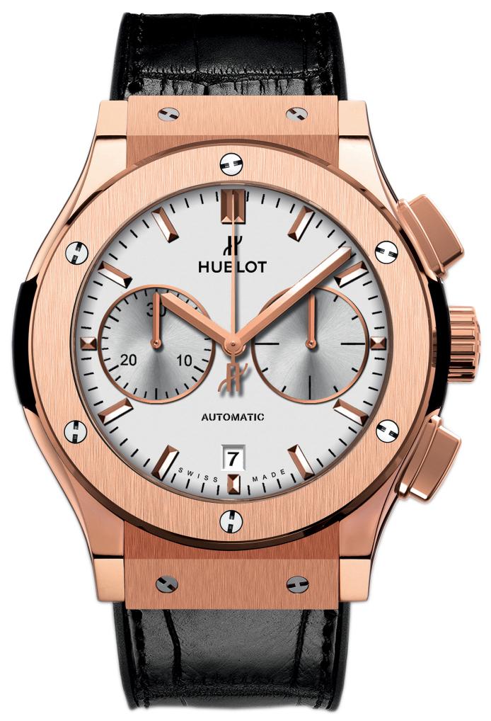 Hublot Classic Fusion Herrklocka 521.OX.2611.LR Silverfärgad/Läder Ø45 - Hublot