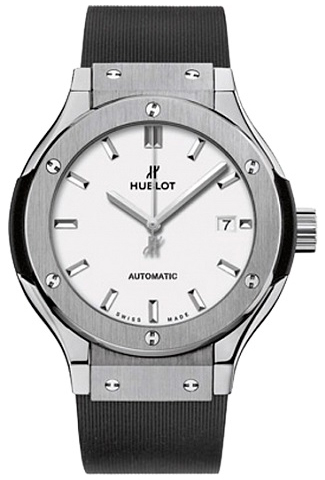 Hublot Classic Fusion Damklocka 582.NX.2610.RX Vit/Gummi Ø33 mm - Hublot