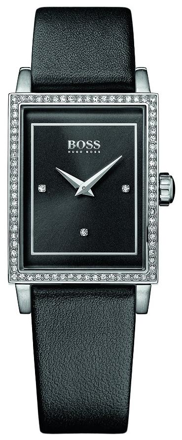 Hugo Boss Slim Damklocka 1502349 Svart/Läder - Hugo Boss
