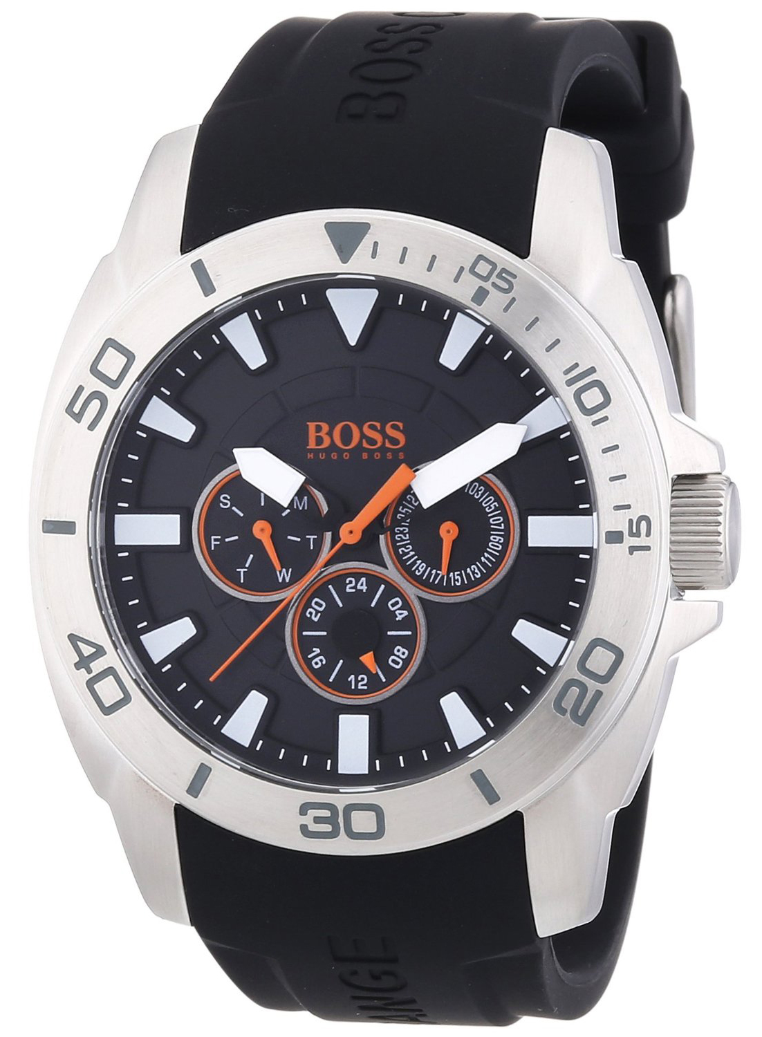 Hugo Boss 99999 Herrklocka 1512950 Svart/Gummi Ø45 mm - Hugo Boss