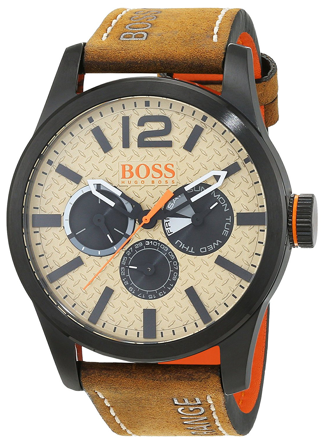 Hugo Boss Paris Herrklocka 1513237 Beige/Läder Ø47 mm - Hugo Boss