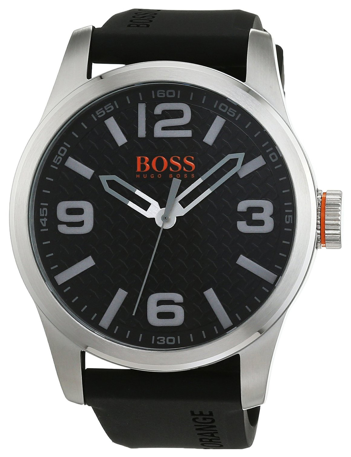 Hugo Boss Paris Herrklocka 1513350 Svart/Gummi Ø47 mm - Hugo Boss