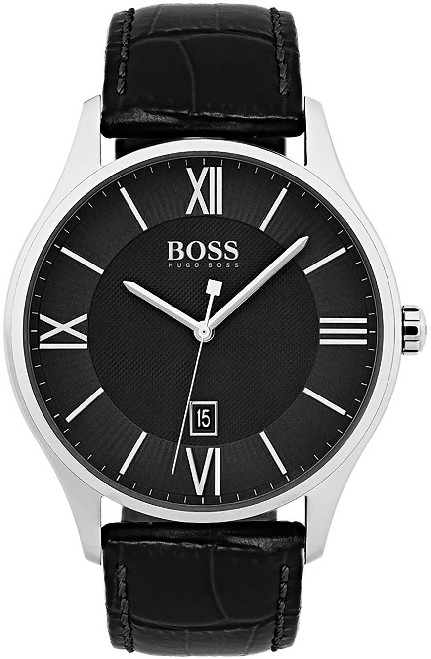 Hugo Boss 99999 Herrklocka 1513485 Svart/Läder Ø43 mm - Hugo Boss