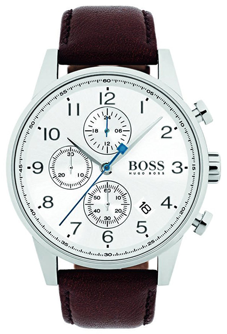 Hugo Boss Chronograph Herrklocka 1513495 Vit/Läder Ø44 mm - Hugo Boss