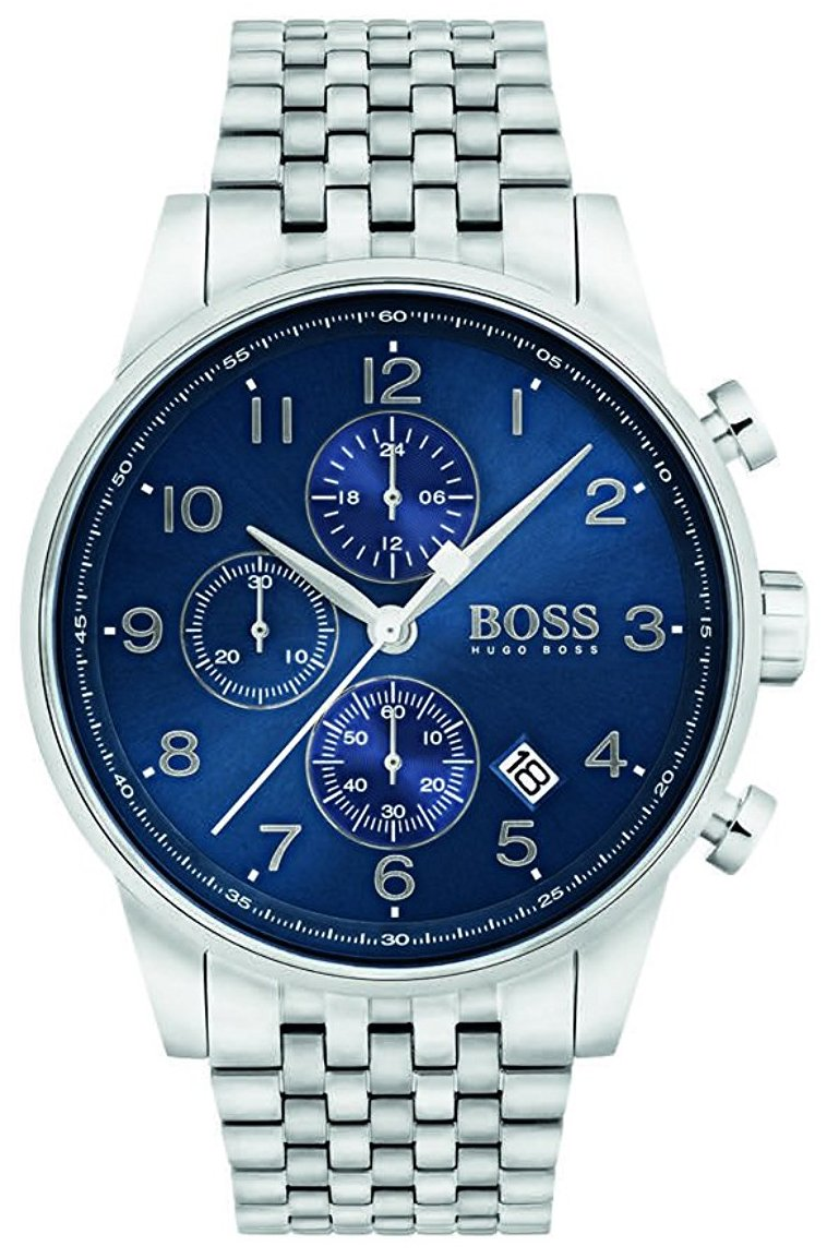 Hugo Boss Chronograph Herrklocka 1513498 Blå/Stål Ø44 mm - Hugo Boss