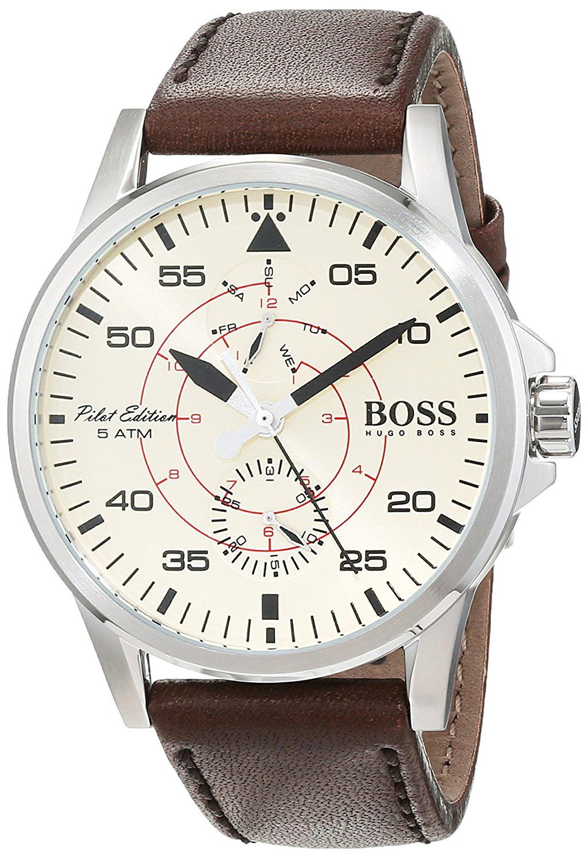 Hugo Boss 99999 Herrklocka 1513516 Champagnefärgad/Läder Ø44 mm - Hugo Boss