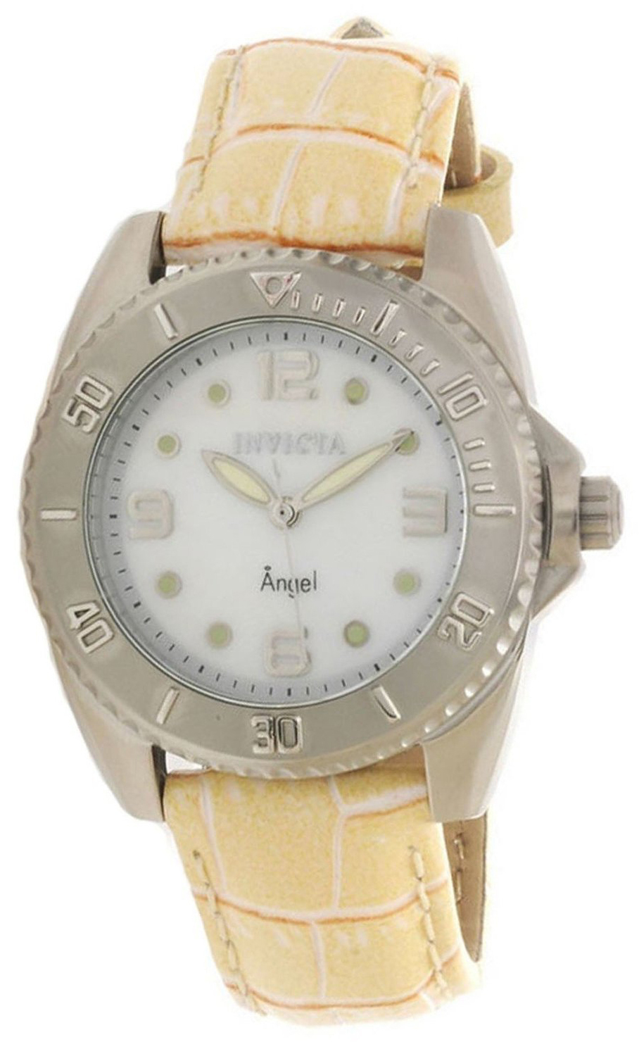 Invicta Angel Damklocka 15003 Vit/Läder Ø35 mm - Invicta