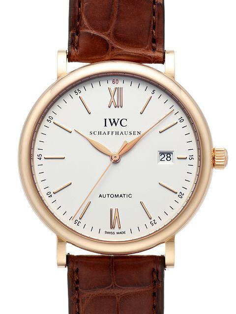 IWC Portofino Herrklocka IW356504 Silverfärgad/Läder Ø40 mm - IWC