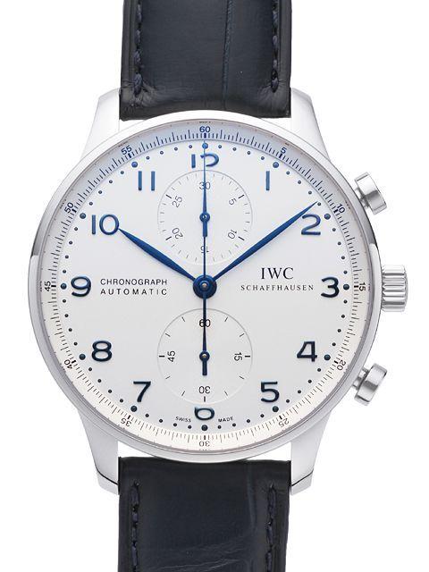 IWC Portuguese Herrklocka IW371446 Silverfärgad/Läder Ø40.9 mm - IWC