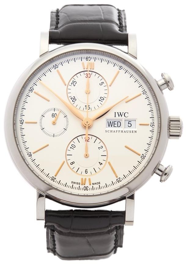 IWC Portofino Herrklocka IW391022 Silverfärgad/Läder Ø42 mm - IWC
