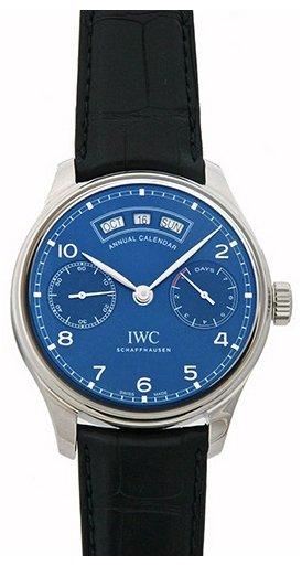 IWC Portuguese Herrklocka IW503502 Blå/Läder Ø44.2 mm - IWC