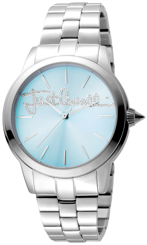 Just Cavalli Logo Damklocka JC1L006M0065 Blå/Stål Ø36 mm - Just Cavalli