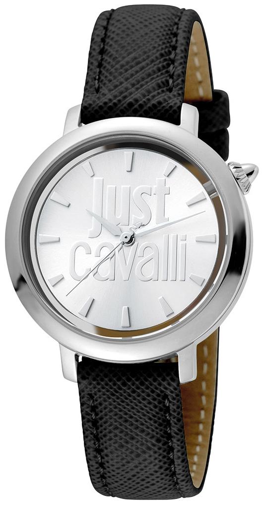 Just Cavalli Logo Damklocka JC1L007L0015 Silverfärgad/Läder Ø34 mm - Just Cavalli