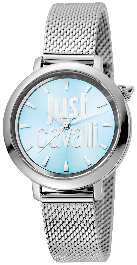 Just Cavalli Logo Damklocka JC1L007M0055 Blå/Stål Ø34 mm - Just Cavalli