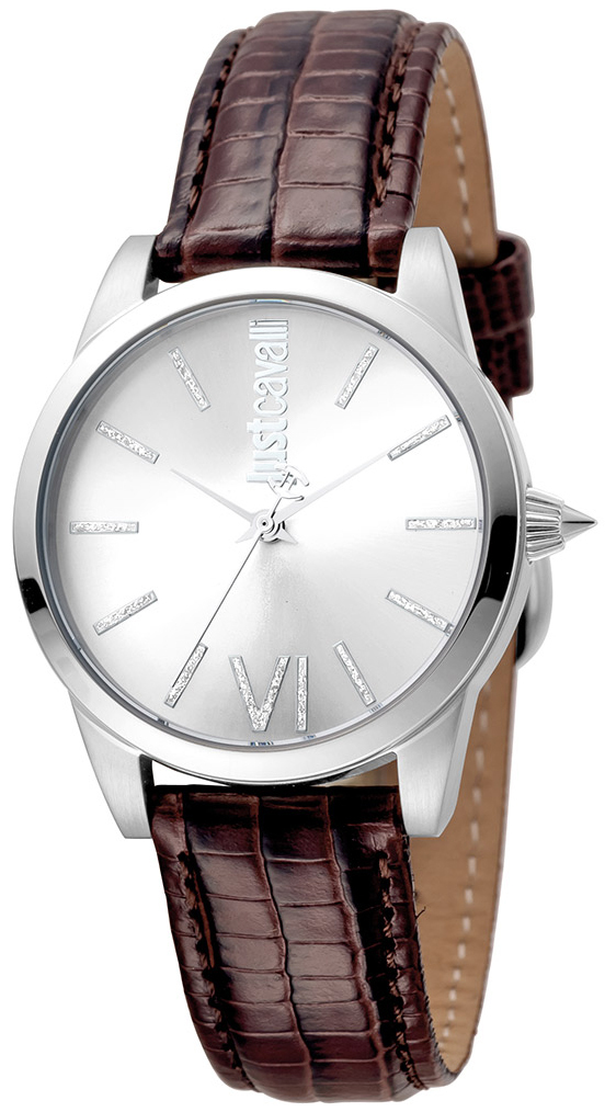 Just Cavalli Relaxed Damklocka JC1L010L0015 Silverfärgad/Läder Ø32 mm - Just Cavalli