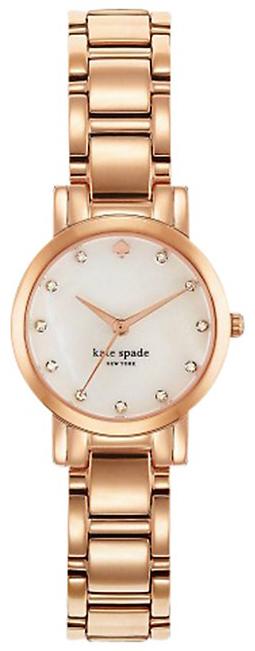 Kate Spade Gramercy Damklocka 1YRU0191 Vit/Roséguldstonat stål Ø24 mm - Kate Spade