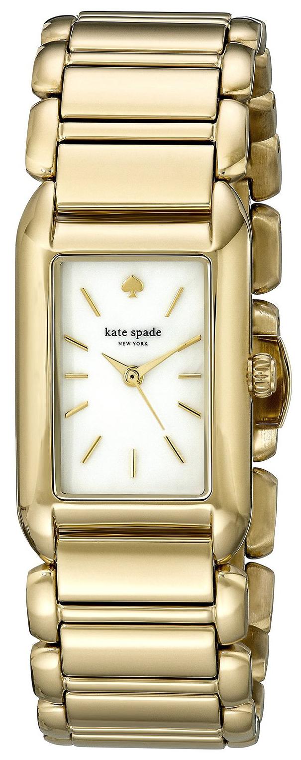 Kate Spade 99999 Damklocka 1YRU0729 Vit/Gulguldtonat stål - Kate Spade