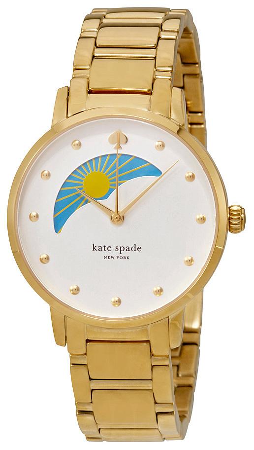 Kate Spade Gramercy Damklocka KSW1072 Vit/Gulguldtonat stål Ø34 mm - Kate Spade